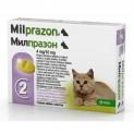 Милпразон (KRKA) таблетки для котят и молодых кошек весом до 2 кг от гельминтов, Антигельминтное средство, 2 шт.* 4мг/уп.(Словения)