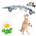 Игрушка д/кошек вращающаяся БАБОЧКА на подставке